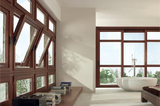 Ventanas de madera exteriores portones de madera serie for Pintar ventanas de madera exterior