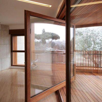 ventana de madera modelo madera